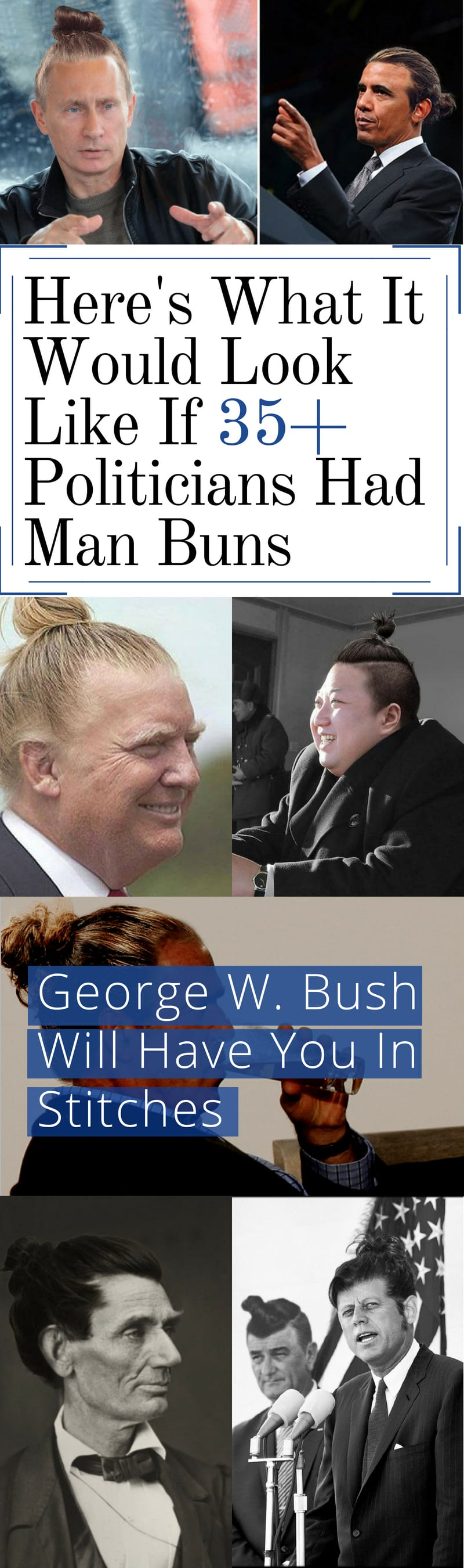 Here S What It Would Look Like If 35 Politicians Had Man Buns