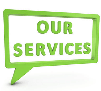 Our services graphic inside message box by SB Marketing.
