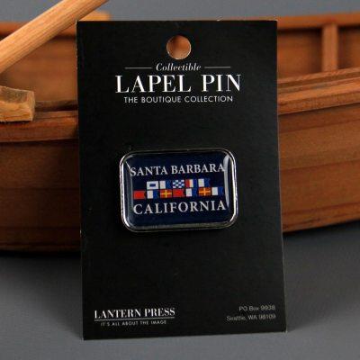 Santa Barbara Nautical Flag Lapel Pin