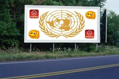 PANNEAU, PRÉSENTATION, PUB, UNITED NATIONS 3