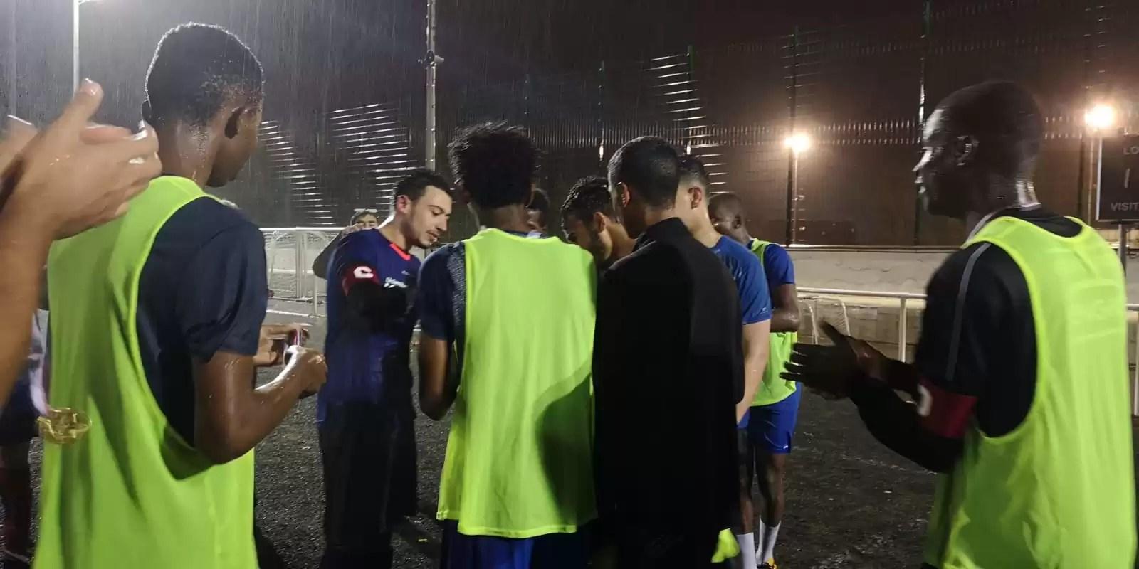 Friendly football match: Refugee youth vs University students