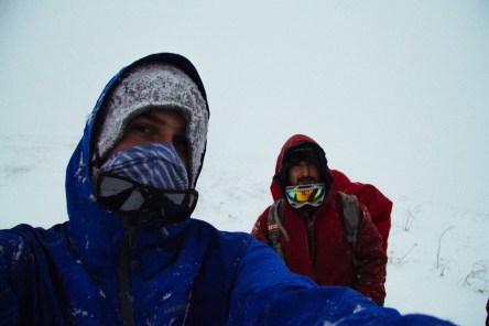 Селфи в снежной пурге