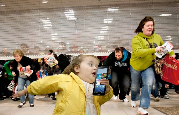 Black Friday Fighting For The Cause Of Discounted Toaster