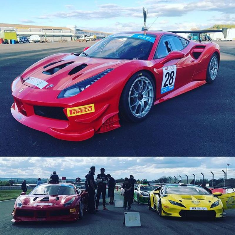 Great first weekend of GT Cup this weekend for our new car.Three Second in class positions. The 488 still needs some set up but has the potential! A great drive from @philipglew to bring the car home in second in class in the two driver race, despite a rear brake problem and Paul being held up in his stint! Looking forward to the next round! #gtcup #sbraceengineering #hpr #ferrari #red #racing #racingcars #488 #twinturbo #huracan #doningtonpark