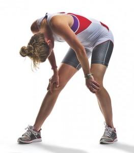 tired triathlete