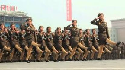 n korea marching