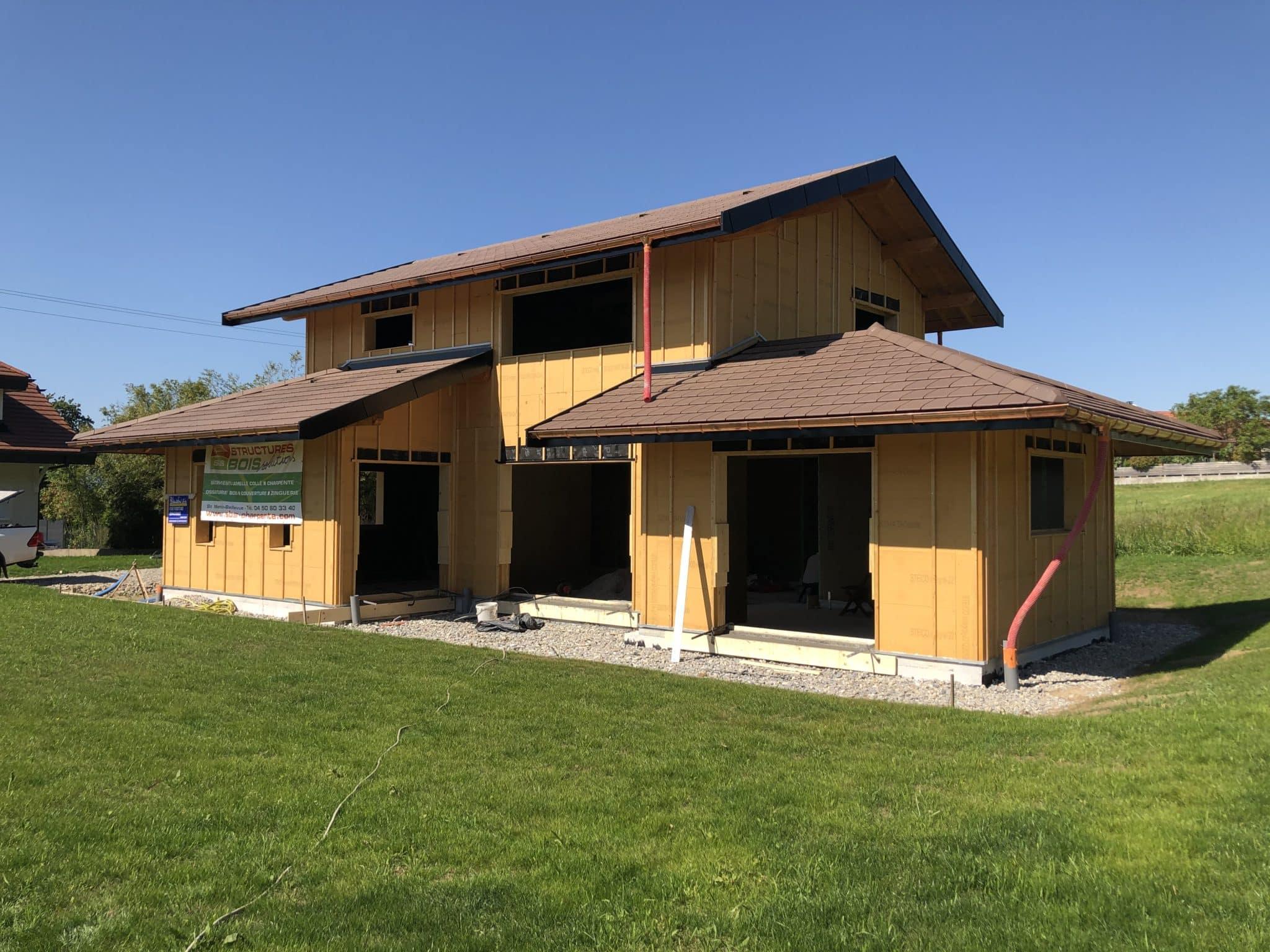 Maison ossature bois à Fessy