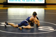 Anthony Garone gains an advantage during his win against Hackley