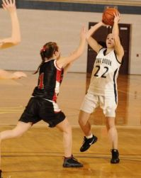 Danielle Pappas looks to pass
