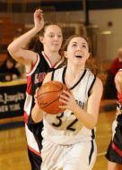 Burke keeps her eyes on the hoop