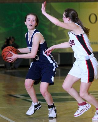 Jess Winston controls the ball