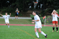 Morgan Pius reacts after she assist Gianna Scavo for a 3-1 lead