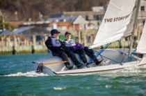 Jack Adams & Isaac Voros during the spring dinghy season (PC: Brianna Holochuck)