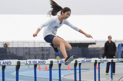 Diana Barbacena in the 400m hurdles