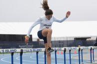 Madison Logan in the 400m hurdles