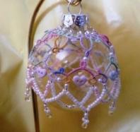 Baby's First Christmas Ornament tatted by Lois Bresnahan