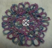 Double Zinnia Petals Motif with Karey Solomon. She will be demonstrating how layered tatting can add texture to a piece without causing it to become technically complicated.