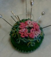 Lily Pad Pincushion with Karey Solomon Create a lotus flower and lily pad to place on a small pin cushion.