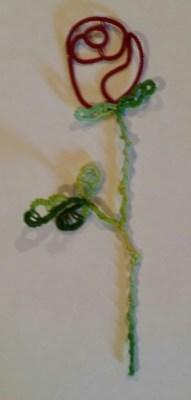 Long Stemmed Rose with Natalie Rogers She will be teaching how to create a rose and its thorns.