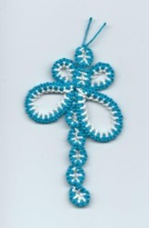 Needle Tatted Dragonfly with Wendy Griffin This cute dragonfly will help teach the needle tatter how to keep multiple thread colors from tangling.