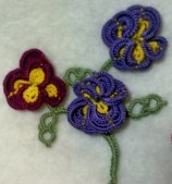 Pensive Pansies Bookmark with Karey Solomon She will teach her students how to make a beautiful arrangement of pansies.