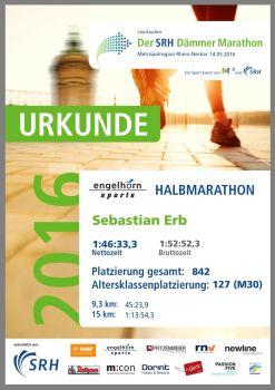 Sebastian Erb @ SRH Dämmermarathon Mannheim