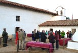 Guests enjoyed a nice reception in the Chapel courtyard. Photo by Michael Imwalle.