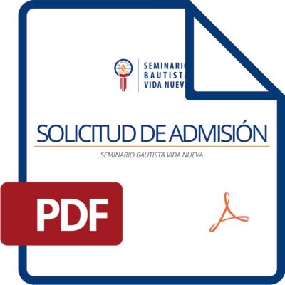 Solicitud de Admisión SBVN 2019 (para imprimir y llenar)