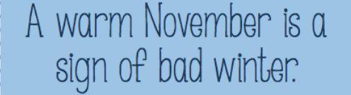 warm november
