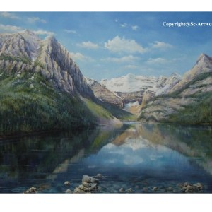 Lake Louise, Canada oil painting