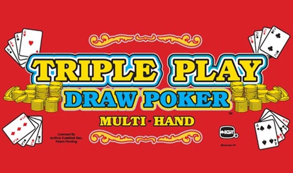 Triple Play Draw Poker Milti-Hand video roker logo