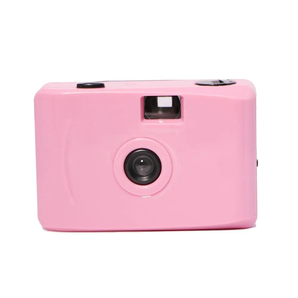 appareil photo instantane 40 pouces en plastique mise au point fixe vintage couleur pure rose mini film 35mm buy camera de film mini camera appareil