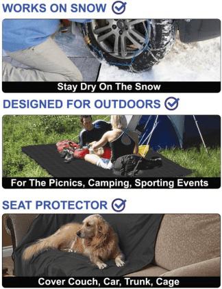custom printed sublimation sherpa fleece outdoor travel and stadium blankets waterproof windproof