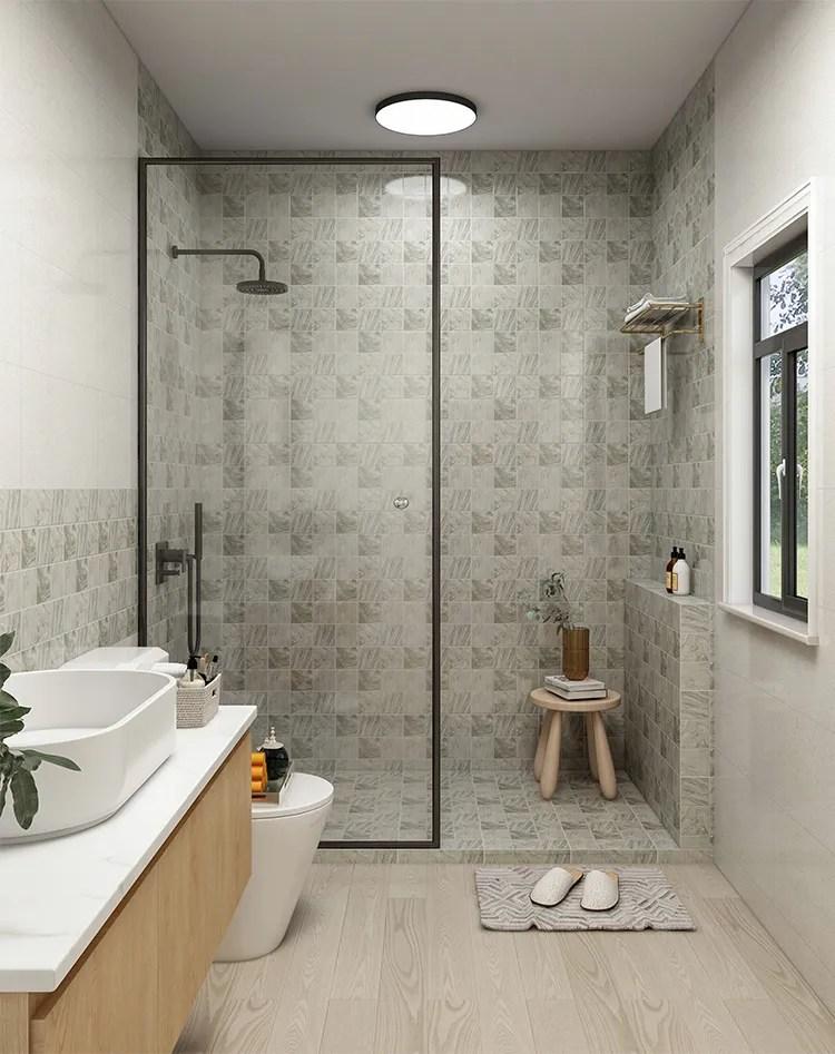 popular 97x97mm 4x4 inch light green stone look matt porcelain for bathroom wall shower floor swimming pool non slip mosaic tile buy shower
