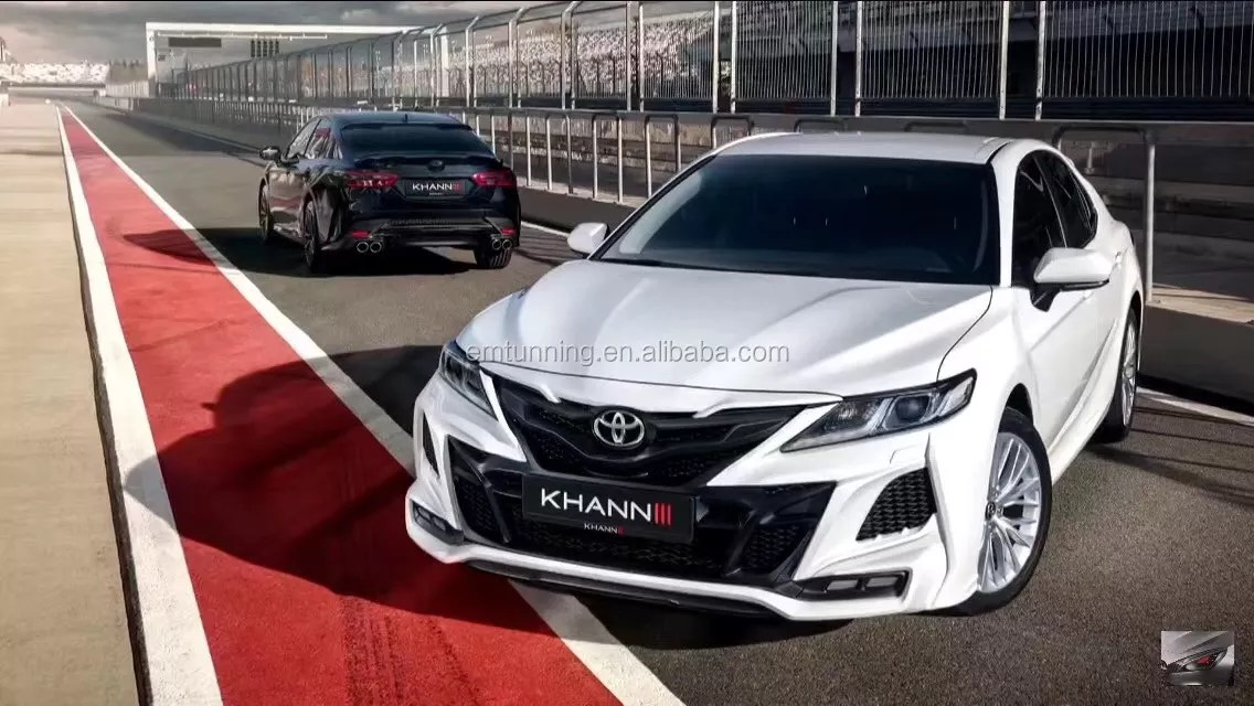 new style facelift 2018 2019 camry convert to khan 3 front bumper rear bumper exhaust tip pp material in stock buy khan style body kit for camry