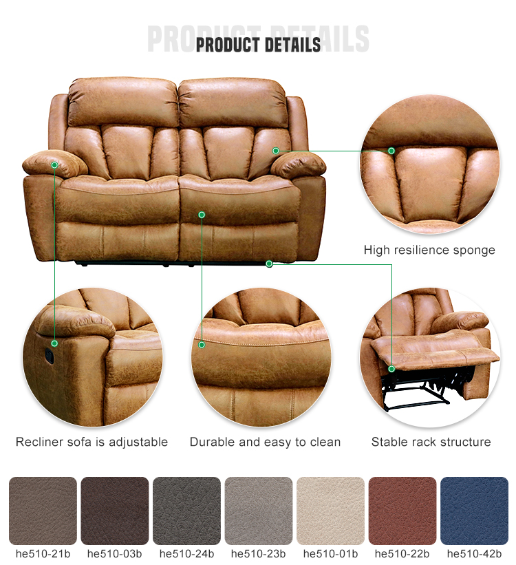 Wholesale luxury Reclin Sofa Modern Live Room Recliner Chair Genuine Leather Recliner Sofa Set
