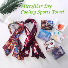 New custom printed microfiber ice sport gym towel with low MOQ