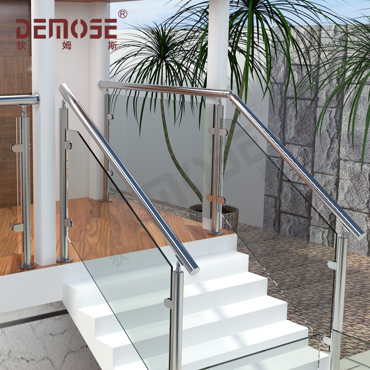 Stair Railing Kits Interior Steps Railing Designs Glass Panel | Stair Railing Glass Panel | Tempered Glass | Wood | Stainless Steel Railing Systems | Base Shoe | Aluminum