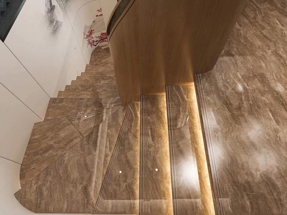serie de carreaux d escalier en porcelaine modele de villa blanc gris marron 680x1200mm buy tuiles d etape pour la villa tuiles d escalier pour le