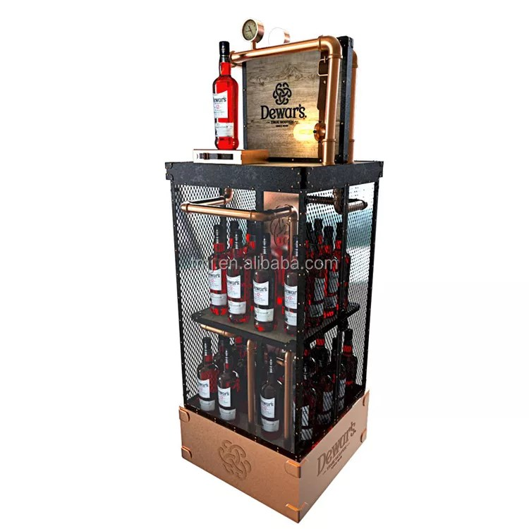 custom premium metal diecut cube liquor wine display bottle rack buy 2019 high end eco friendly beer display wooden wine bottle display rack high