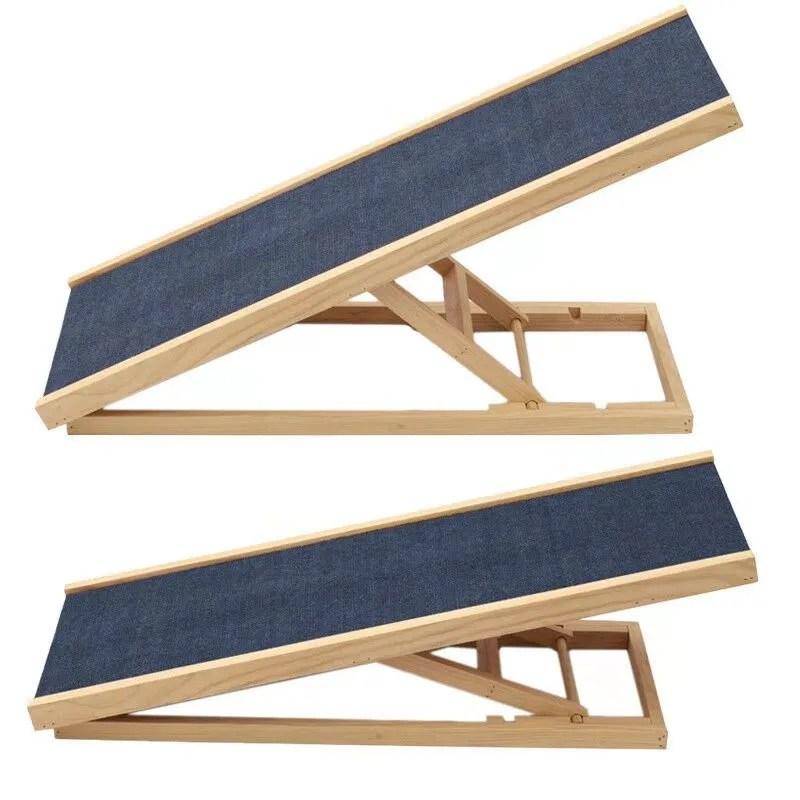 Wooden Folding Portable Non Slip Carpet Adjustable Dog Steps Pet | Dog Slipping On Wood Stairs | Steps | Hardwood Floors | Self Adhering | Hardwood | Puppy Treads