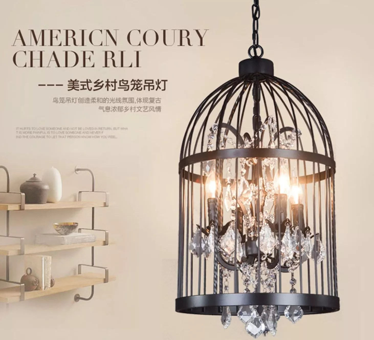 industrial metal bird cage pendant light chandelier lighting vintage ceiling light lamp birdcage shaped bedroom pendant with cry buy crystal ceiling