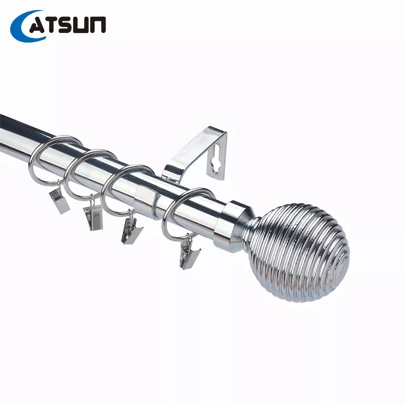 buy double curtain rods stainless steel