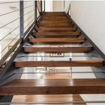 Natural American Walnut Solid Wood Interior Stair Step Treads   American Oak Stair Treads   Stair Case   Stair Railing   Hardwood Floors   Beech American   Walnut