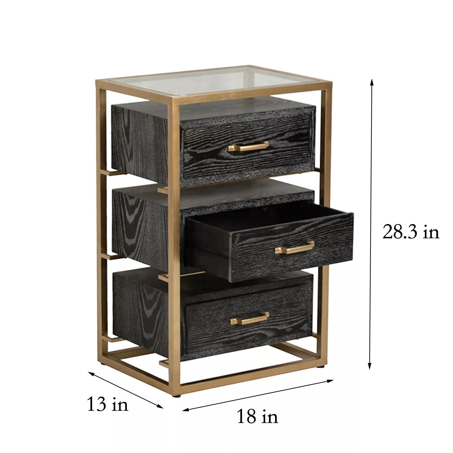 mayco bedroom furniture side table with 3 drawers modern black glass top nightstand buy glass nightstand modern nightstand bedside nightstand with 3