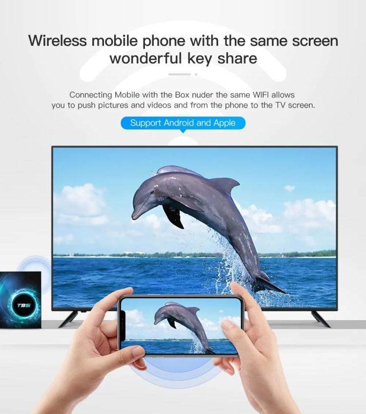 T95 Smart TV Box Android 10.0 4GB32GB Allwinner H616 Quad Core 6K Wifi Media Player Set Top Box