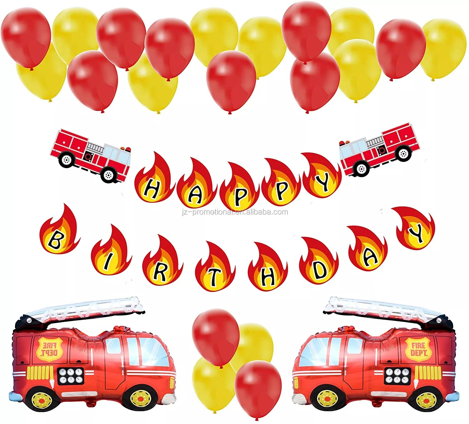Fire Truck Birthday Party Decoration Pack Fireman Firefighter Bday Party Banner Balloon Decor Set For Boy Buy Fire Truck Birthday Party Decoration Firefighter Party Construction Product On Alibaba Com