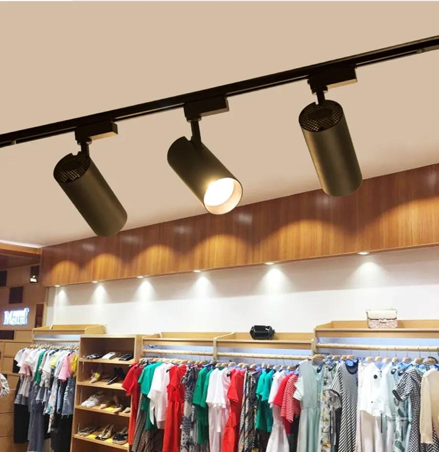 supermarket lighting 30w cob led track spot led retail lighting lamp buy spot light down light retail lighting track spot lighting product on