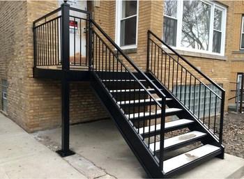 Indoor Stair Railing Iron Stair Balusters Custom Wrought Iron | Black Iron Stair Railing | Wrought Iron | Staircase | Beautiful Staircase | Outdoor Handrail Stair | Residential Stair