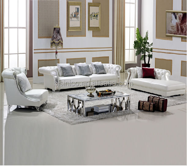 White Living Room Furniture Set